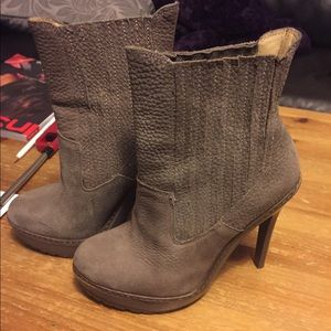 Shoes - BCBG grey booties brand new